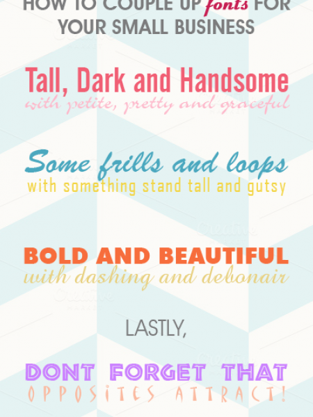 How to Couple up Fonts for Your Small Business Infographic