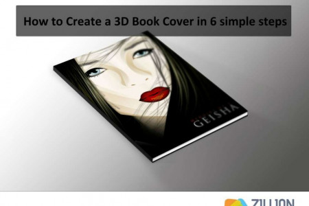 How to Create a 3D Book Cover in 6 Simple Steps Infographic