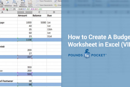 How to Create A Budget Worksheet in Excel (Video) Infographic