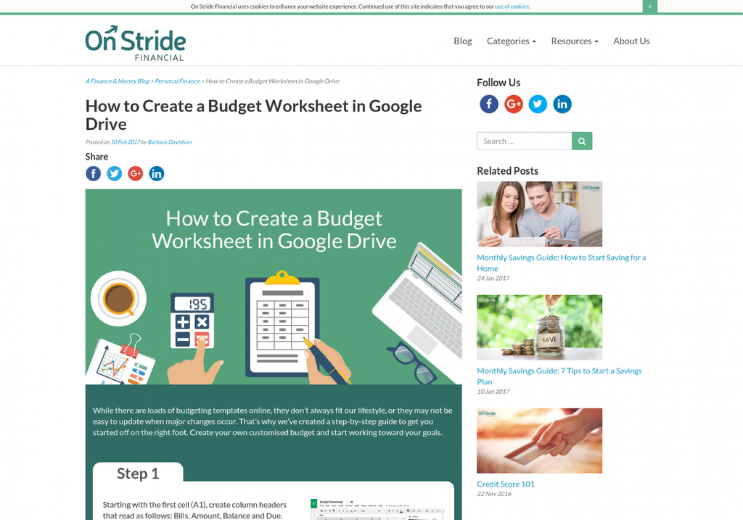 How to Create a Budget Worksheet in Google Drive | Visual.ly