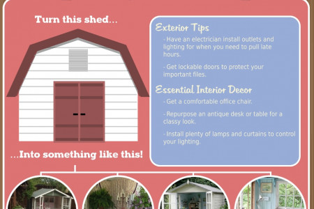 How to Create an Idyllic She-Shed for Your Backyard Retreat Infographic