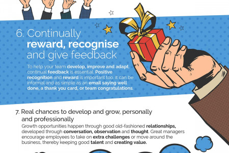 How to Create Engaged, Happy Teams Infographic