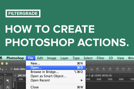 How to Create Photoshop Actions Infographic