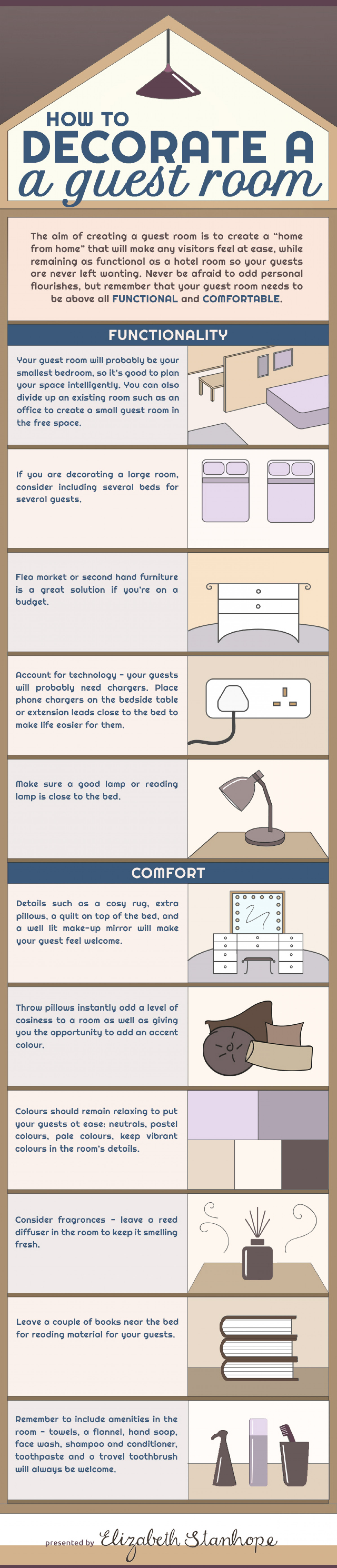 How to Decorate a Guest Room Infographic