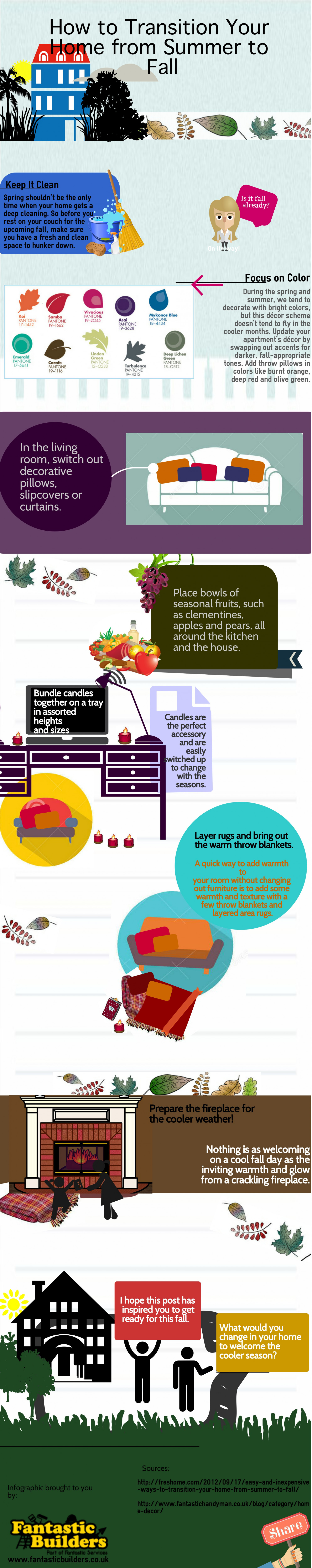 How to Decorate for Fall Season Infographic