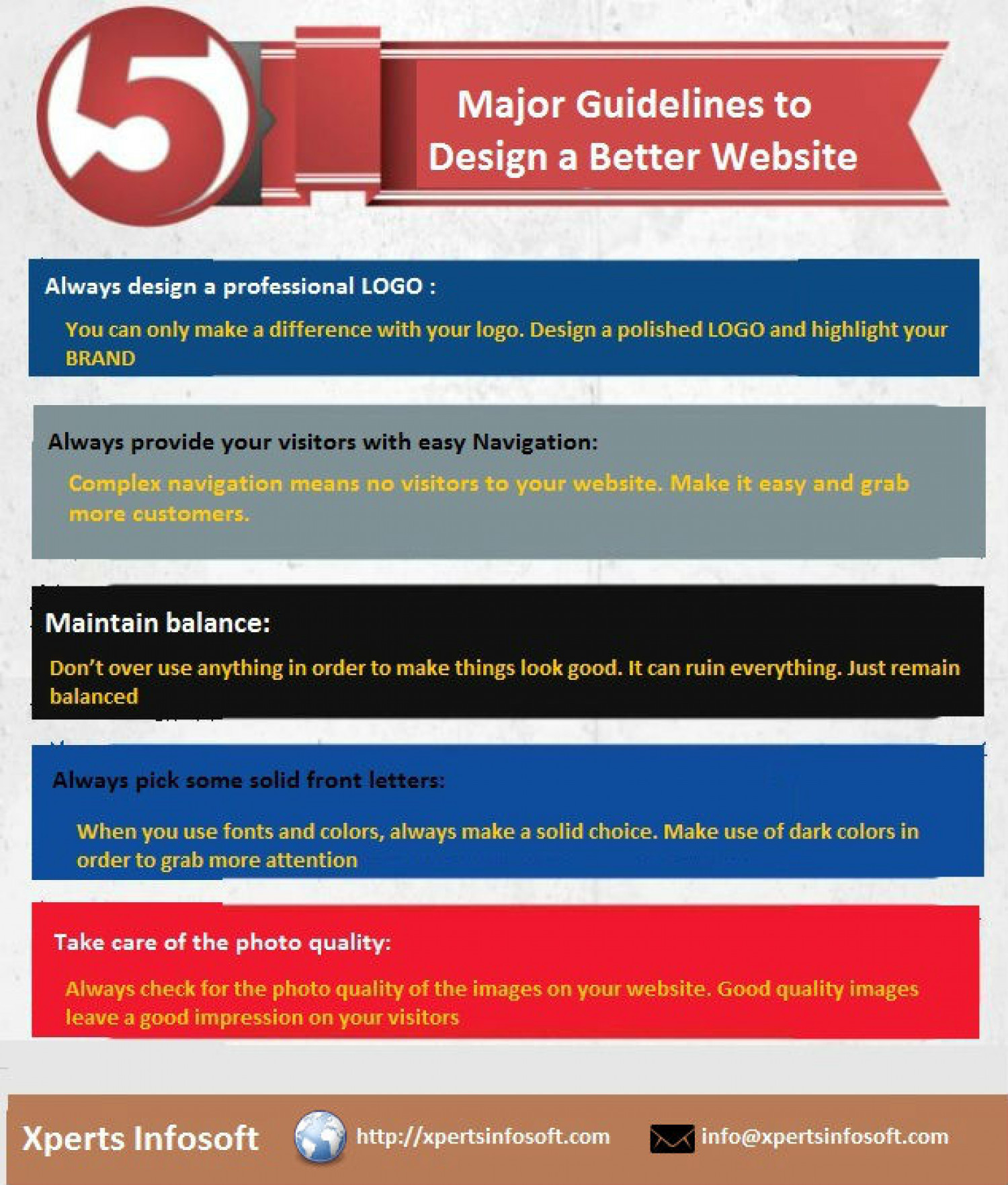 How to design a better website? Infographic