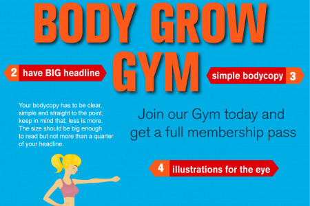 How To Design A Fitness Gym Print Infographic