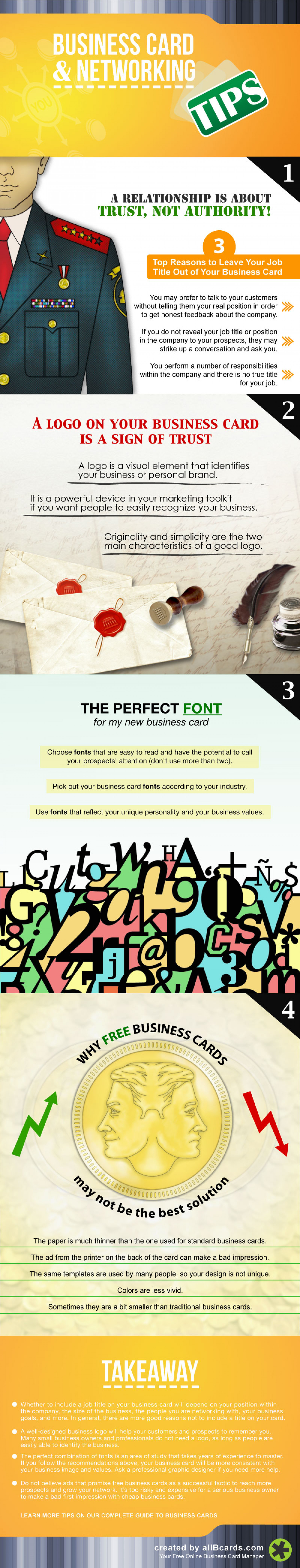 How to Design Effective Business Cards for Networking Events Infographic