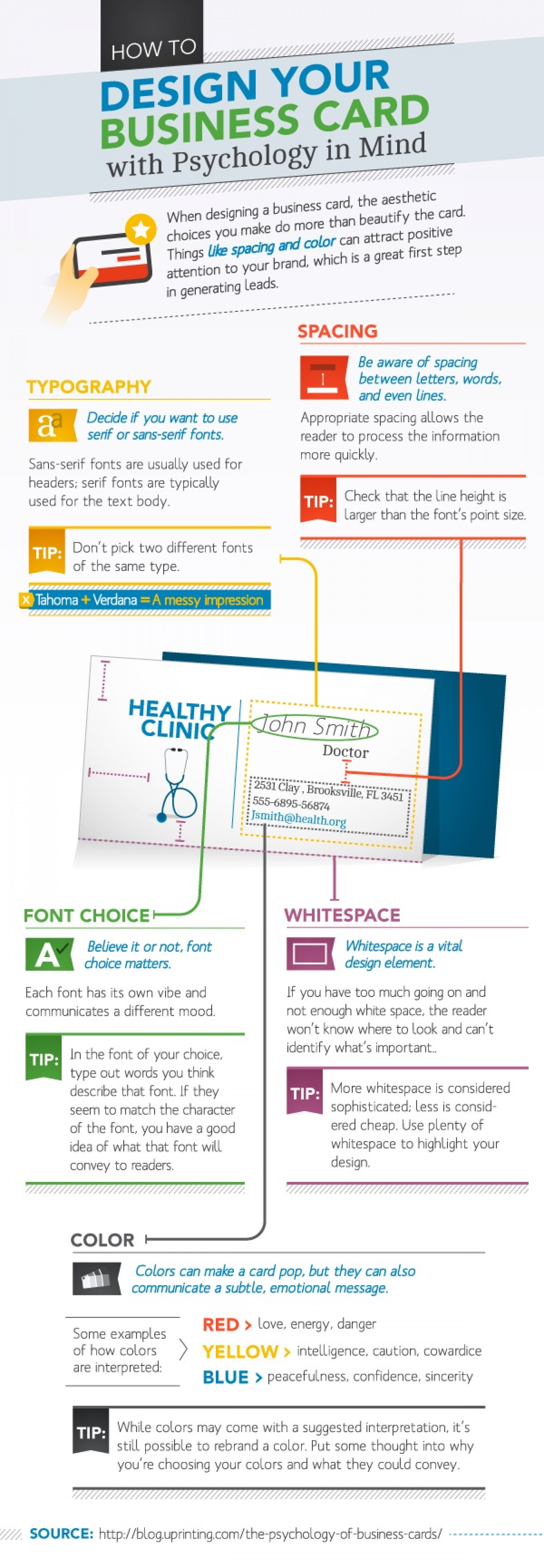 How to Design Your Business Card with Psychology in Mind Infographic