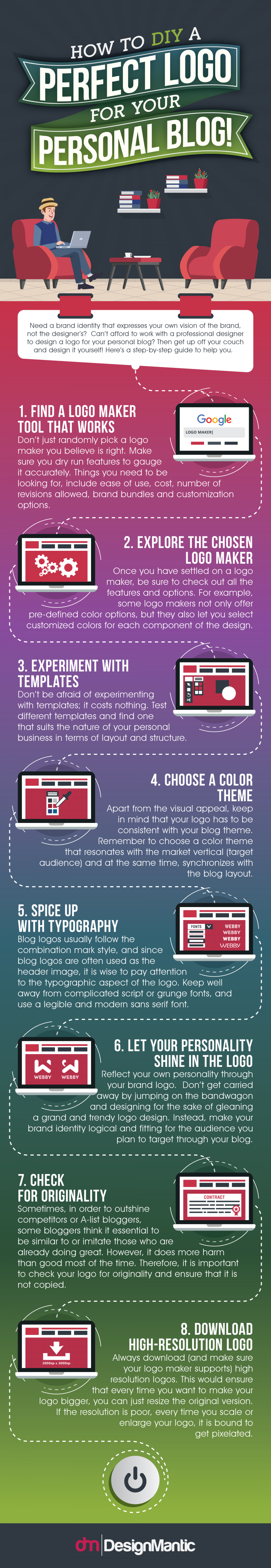 How To DIY A Perfect Logo For Your Personal Blog! Infographic