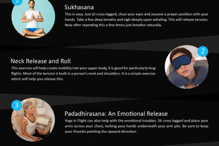 How to Do T Yoga During Flights Infographic