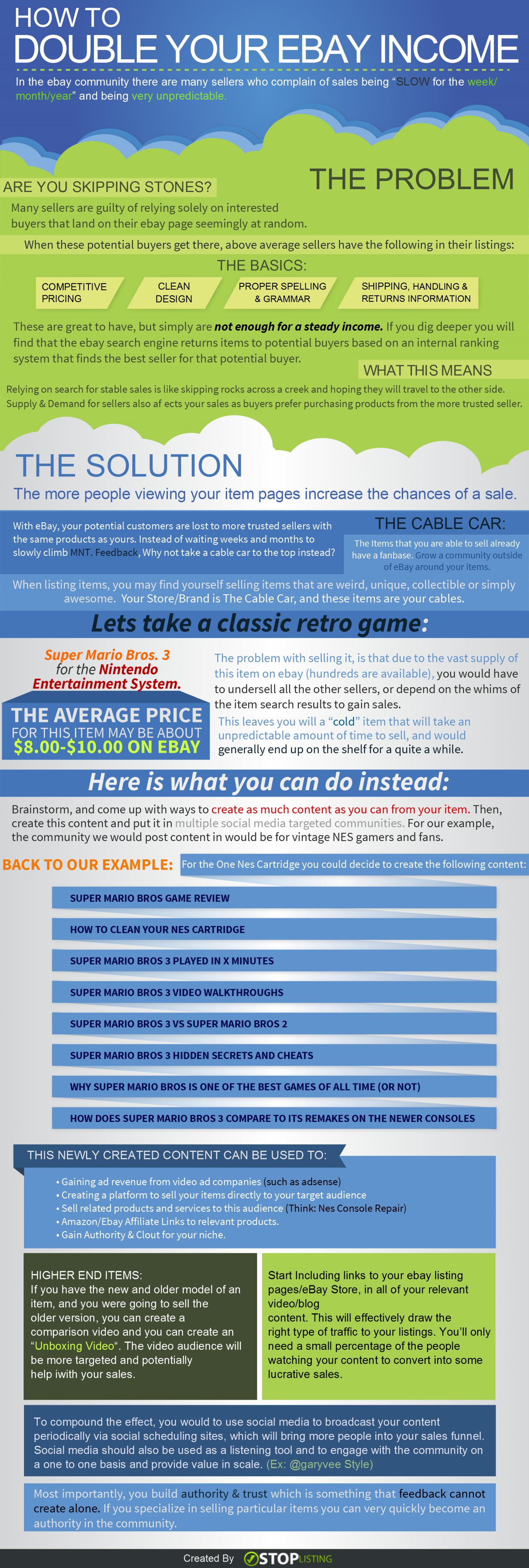 How to Double Your Ebay Income [Infographic]