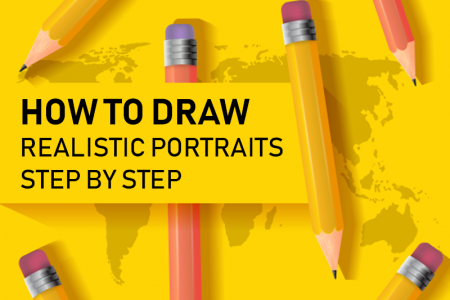 How to Draw Realistic Portraits Step By Step? Infographic