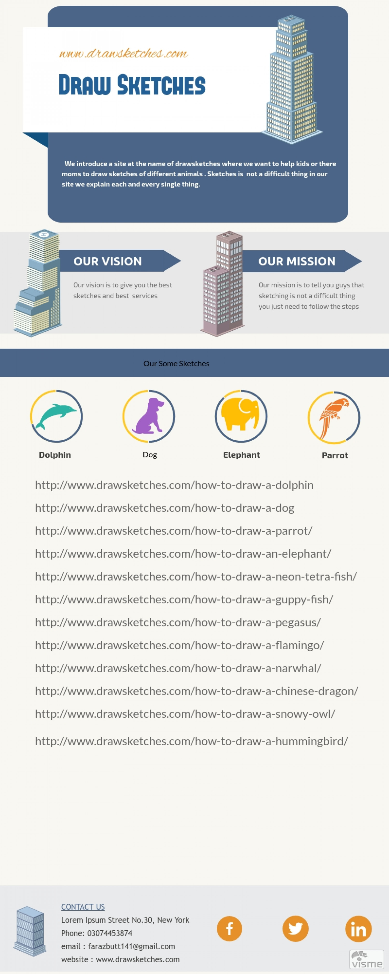 How to Draw Sketches Infographic