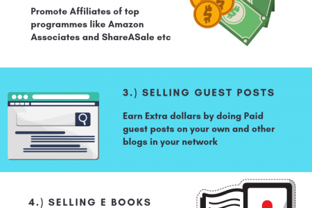 How To Earn Money From Blogging Without Google Adsense Infographic