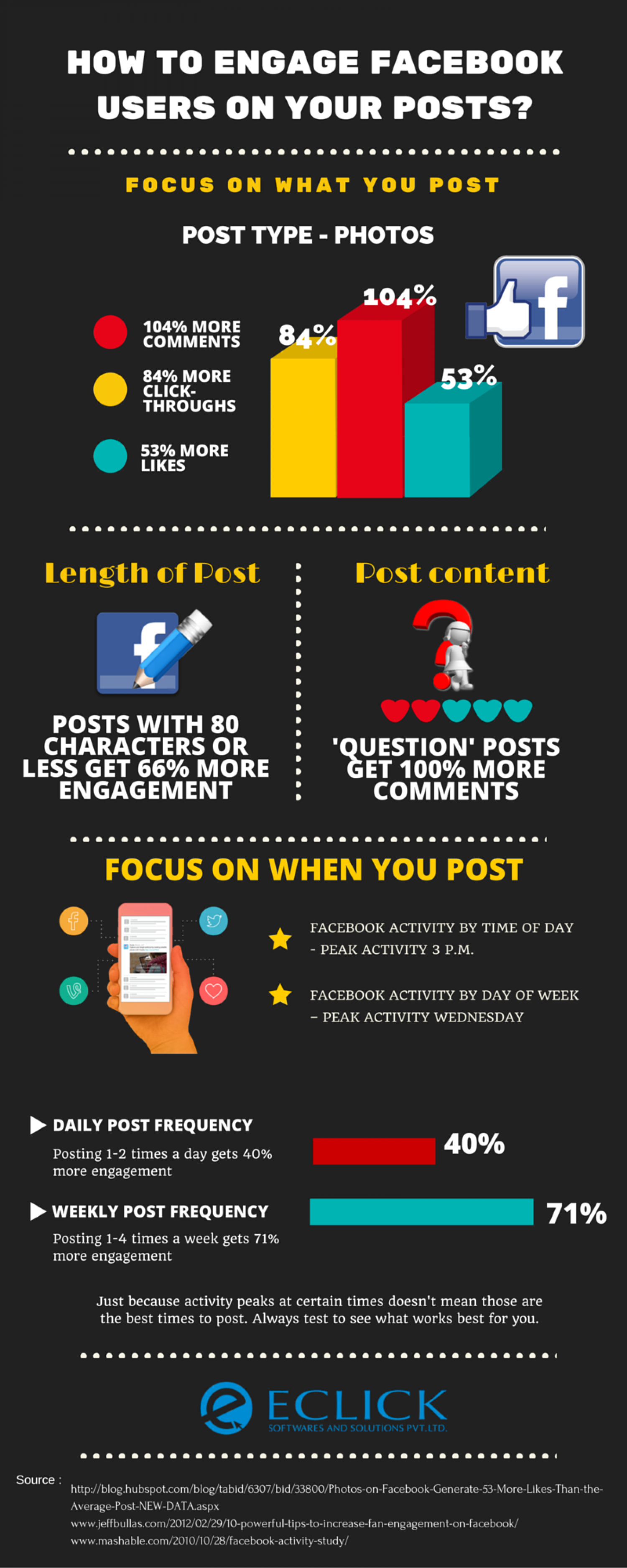 How To Engage Facebook Users On Your Posts? Infographic