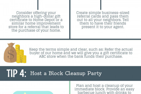 How to Enlist Neighbors to Help Sell Your House Infographic