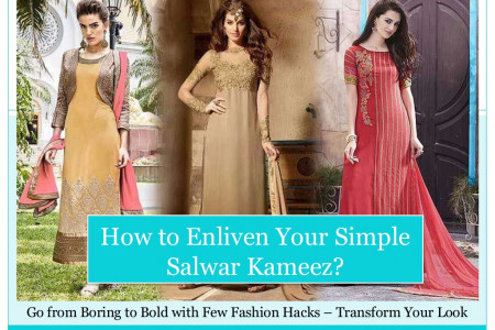 How to Enliven Your Simple Salwar Kameez Infographic