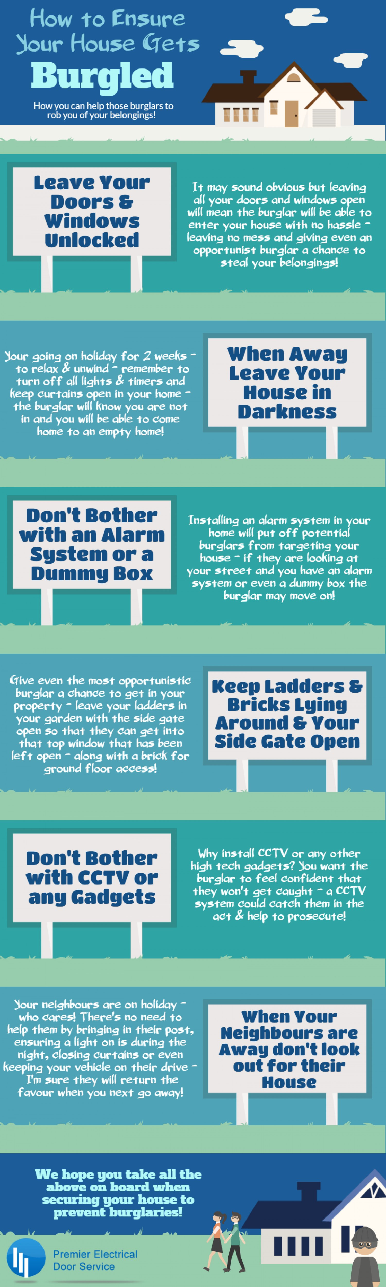 How to ensure your house gets burgled! Infographic