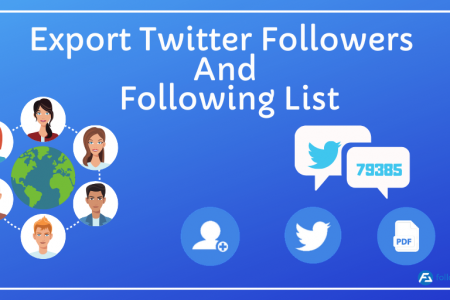 How to export Twitter followers and twitter following list of any public account? Infographic