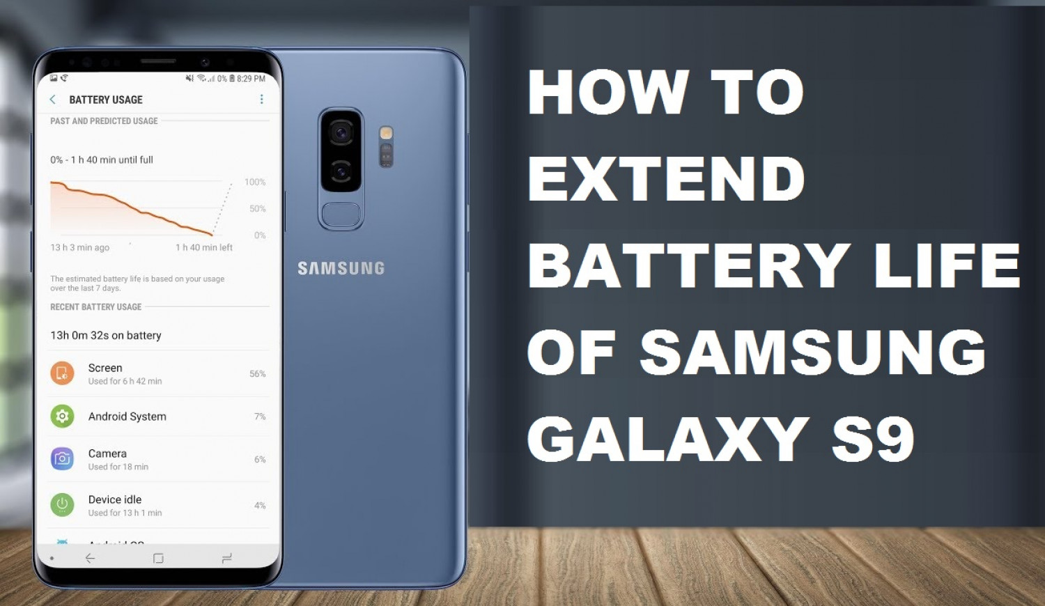 How to Extend Battery Life of Samsung Galaxy S9  Infographic