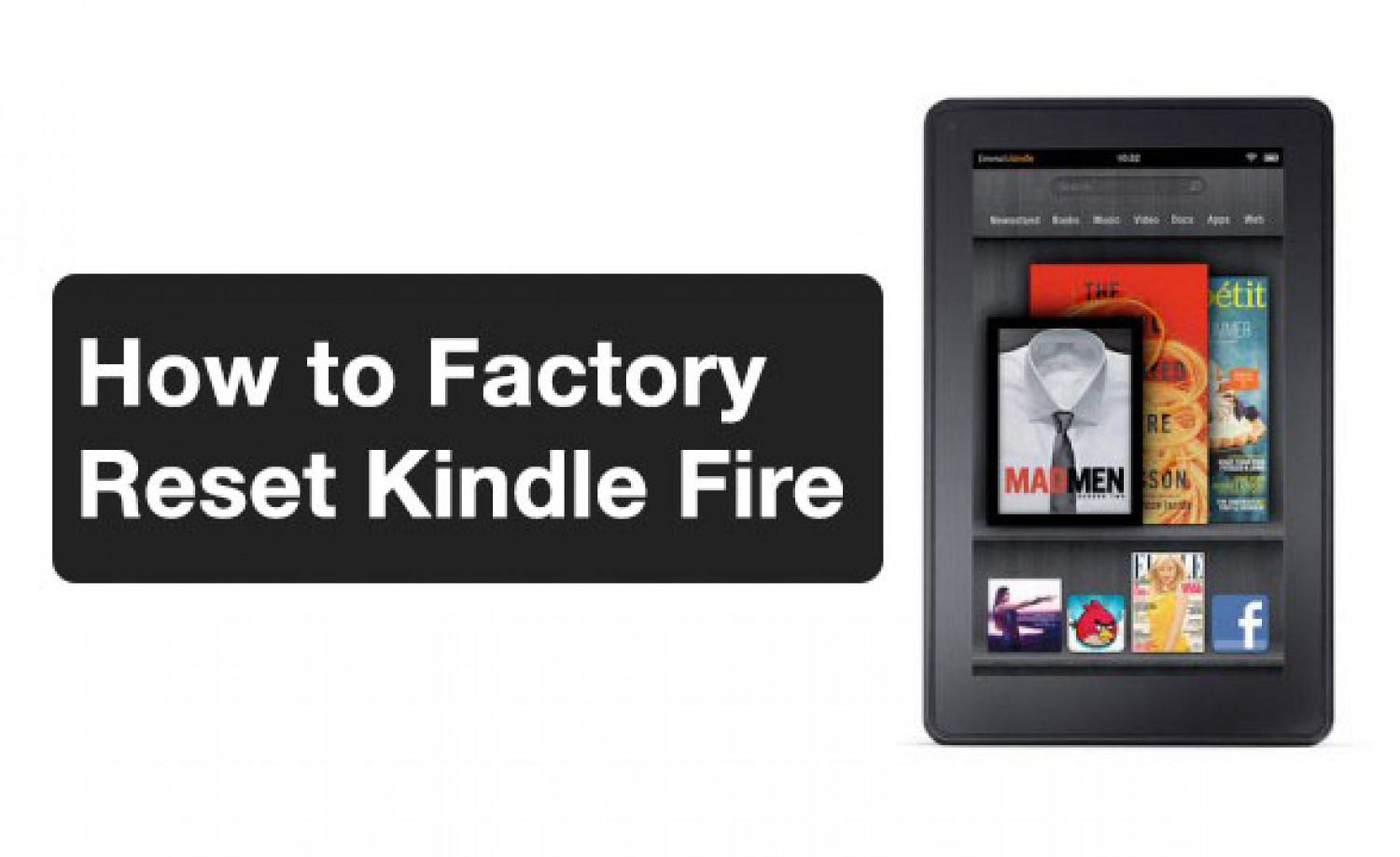 How to Factory Reset a Kindle Fire- Easy Tutorial Infographic