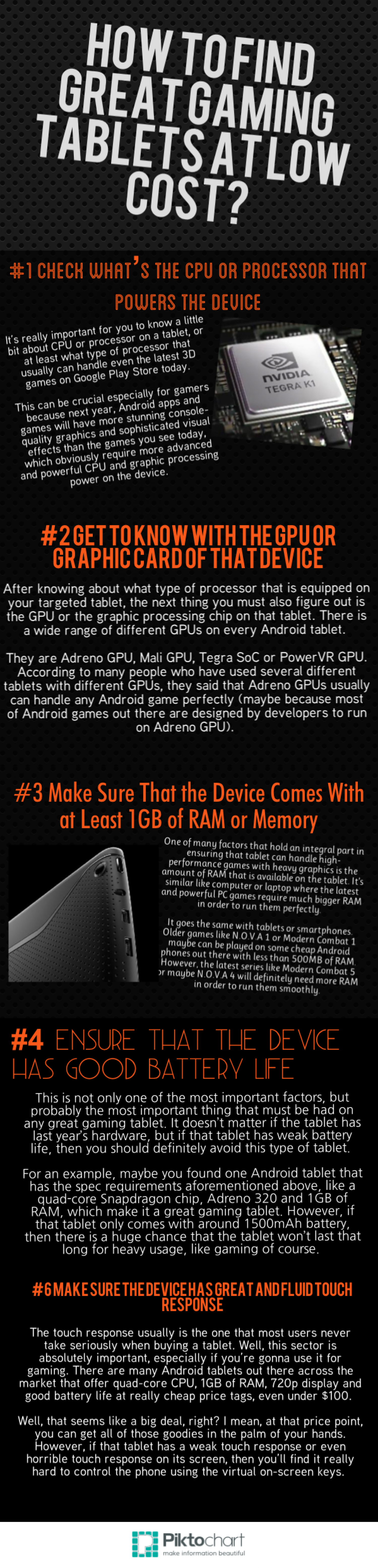 How to Find Great Gaming Tablets at Low Cost? Infographic