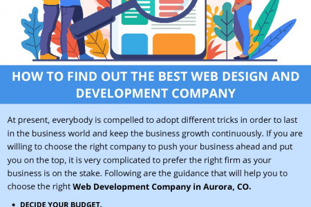HOW TO FIND OUT THE BEST WEB DESIGN AND DEVELOPMENT COMPANY Infographic