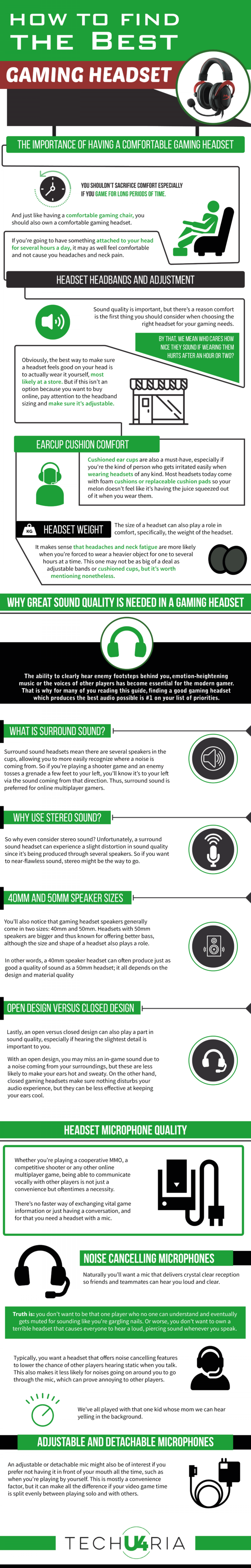 How To Find The Best Gaming Headset Infographic