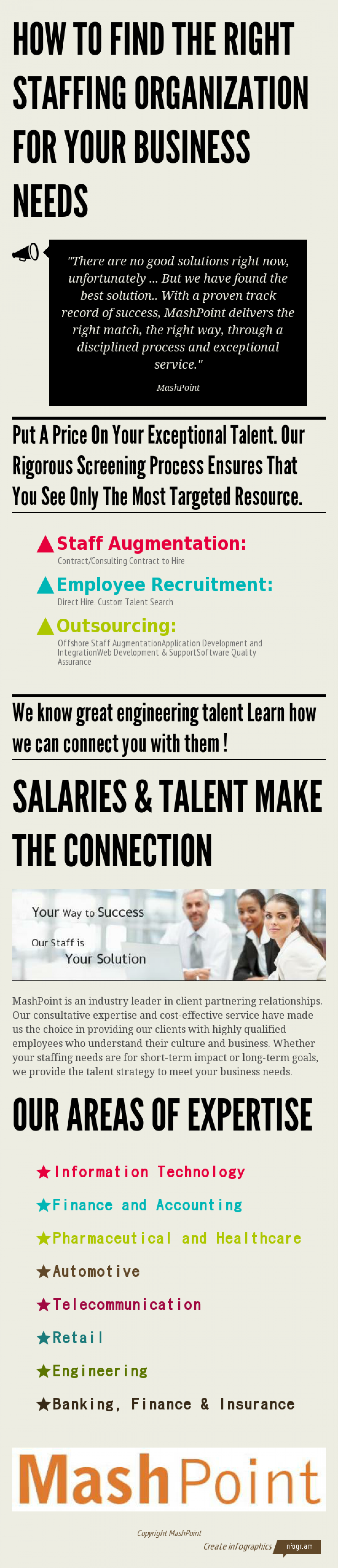 How to find the right staffing organization for your business needs Infographic