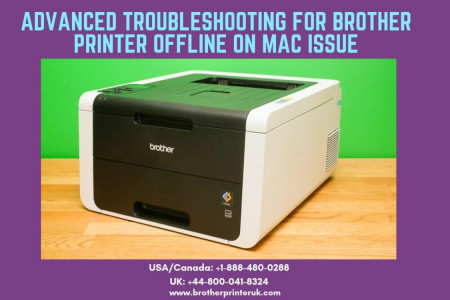 How to Fix Brother Printer Offline Mac | Call us now +1-888-480-0288 Infographic