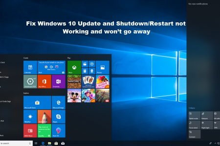 How to Fix Windows 10 Update and Shutdown/Restart not Working and won't go away? Infographic