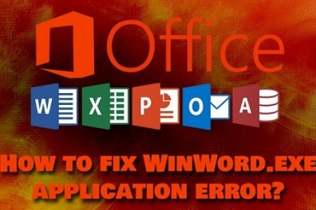 "How to Fix ""WinWord.exe"" Application Error Message Infographic"