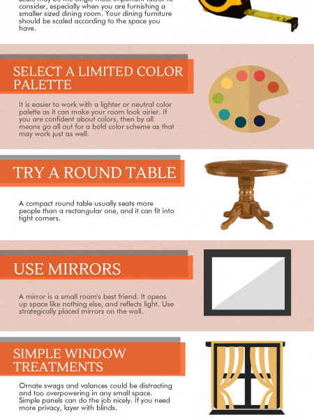 How To Furnish a Small Dining Room Infographic