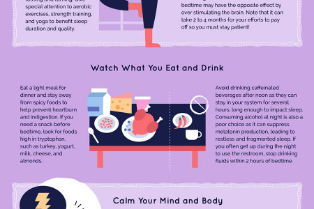 How to Get a Good Night's Sleep Infographic