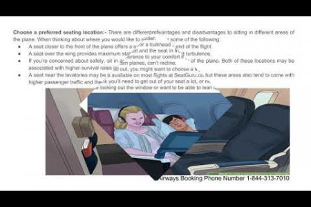 How to Get a Good Seat on an Airplane | 1-844-313-7010 | Booking Number Infographic