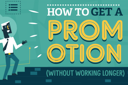 How to Get a Promotion (Without Working Longer) Infographic