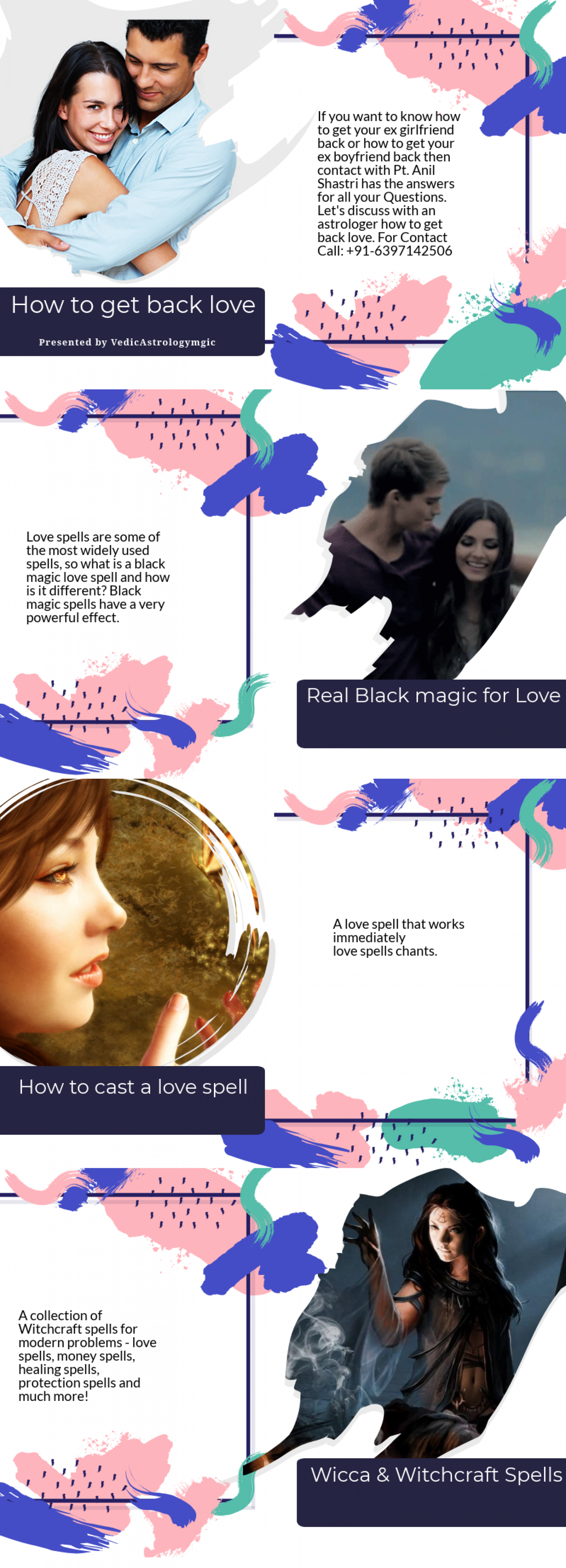 How to get back love Infographic