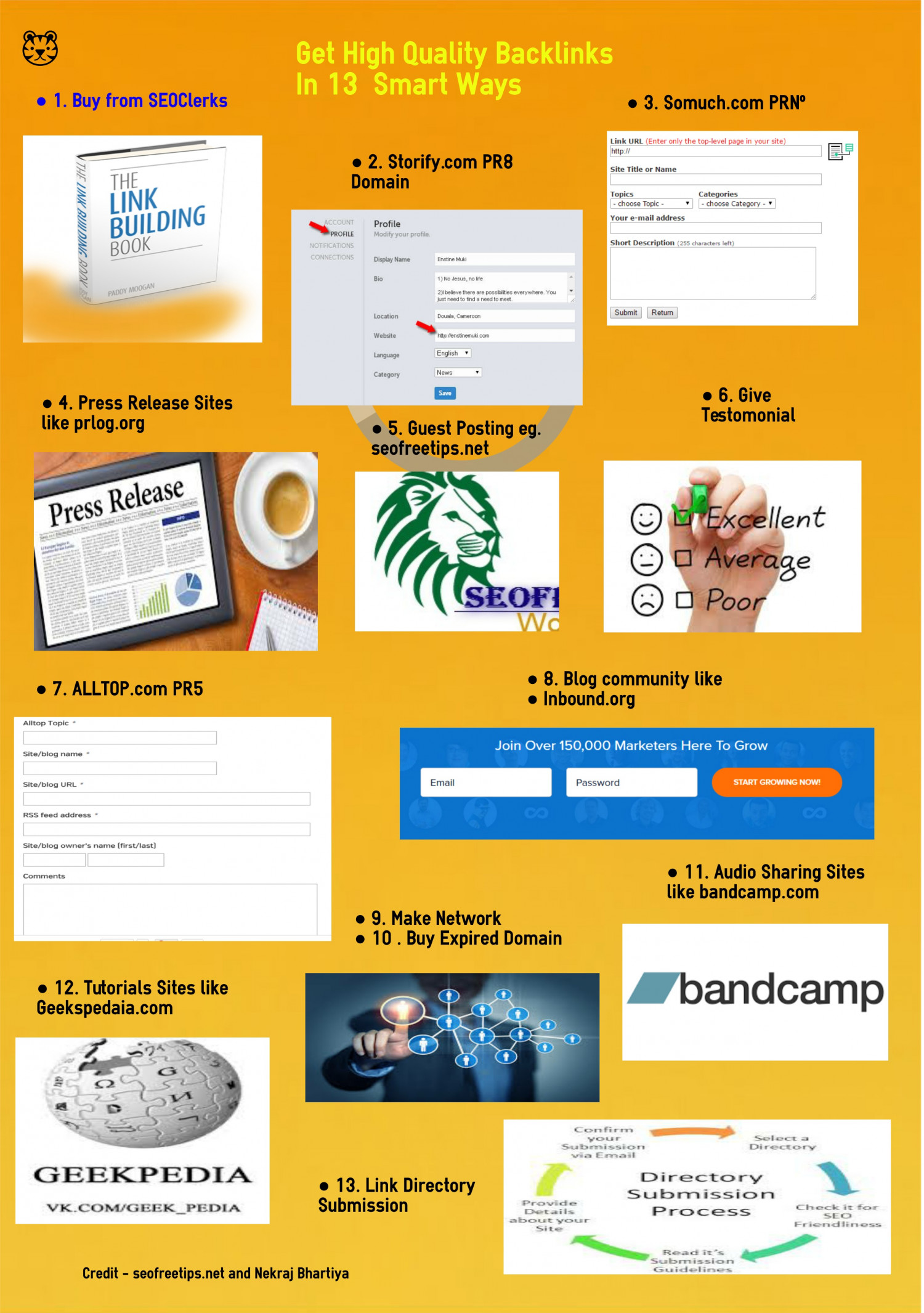 How to Get High Quality Backinks : 13 Smart Way Infographic