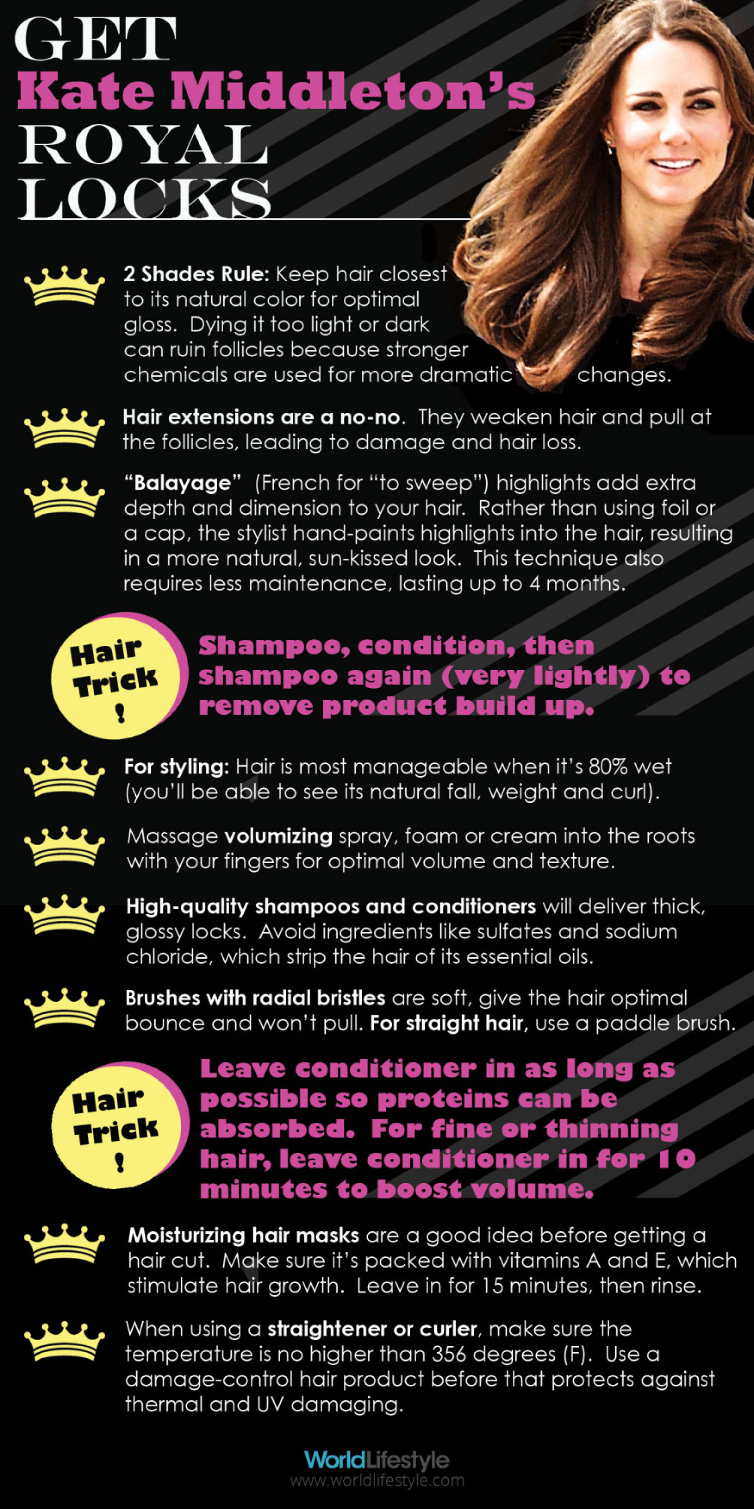How to Get Kate Middleton's Hair Infographic