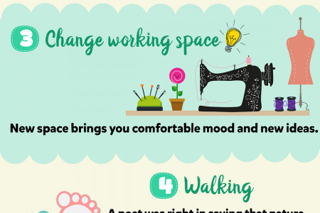 How to get new ideas for sewing and embroidering? Infographic
