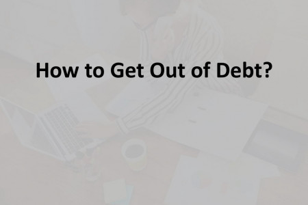How to get out of debt Infographic
