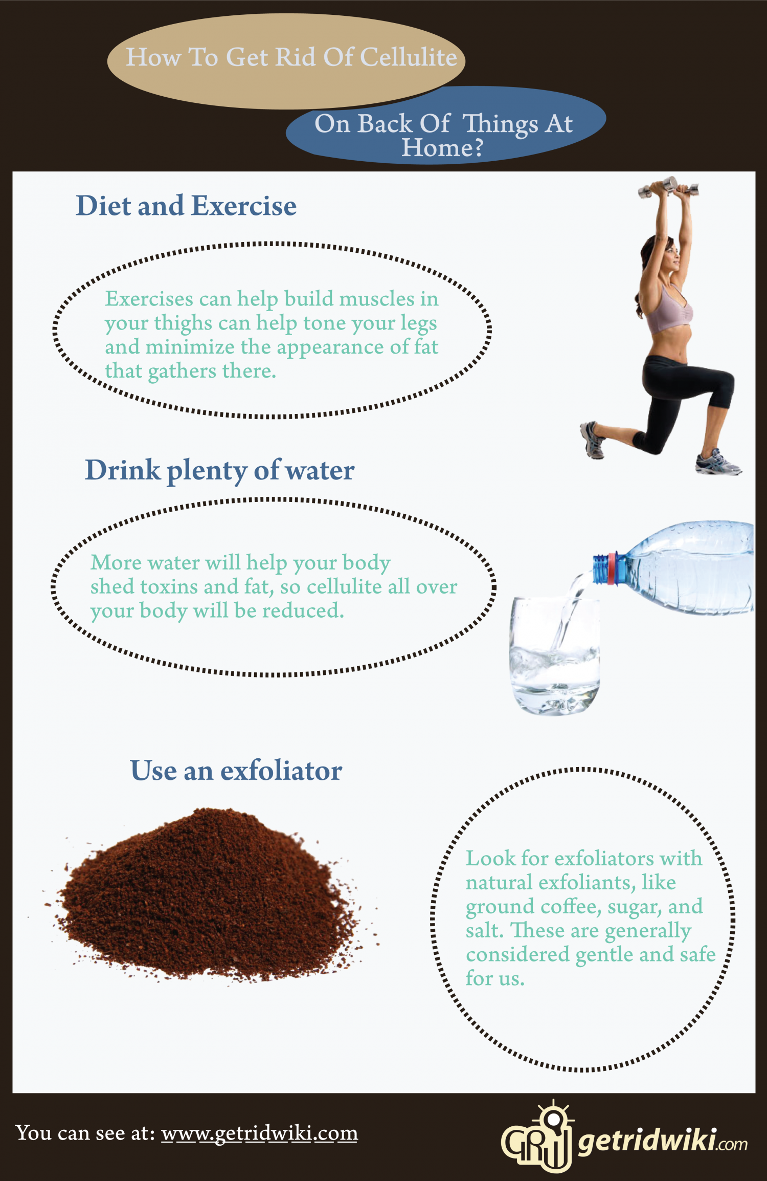 how to get rid of cellulite on back of things at home visual ly