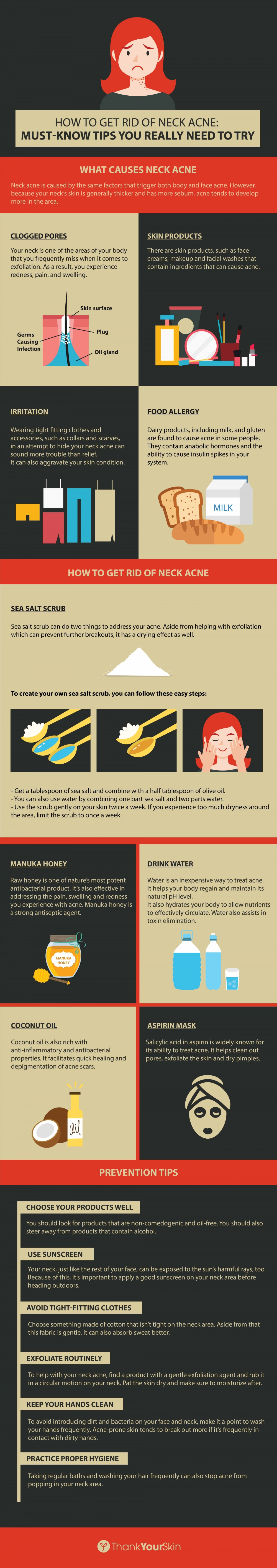 How to Get Rid of Neck Acne: Must-Know Tips You Really Need to Try Infographic