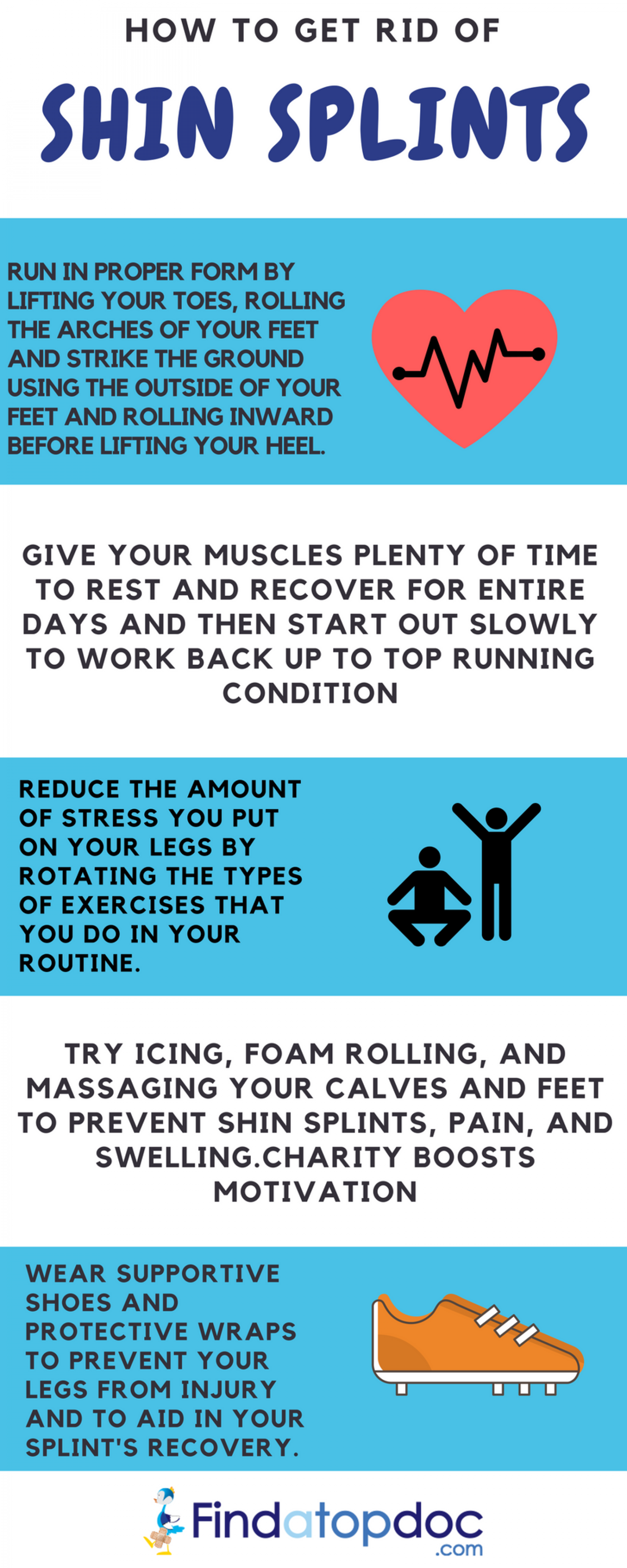 How to Get Rid of Shin Splints Infographic