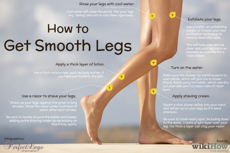 How to Get Smooth Legs: 6 Steps Infographic