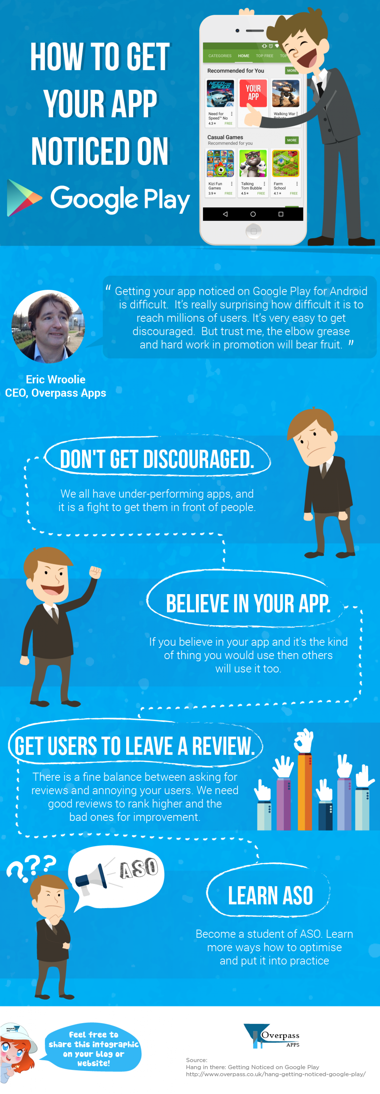 How to Get Your App Noticed On Google Play Infographic
