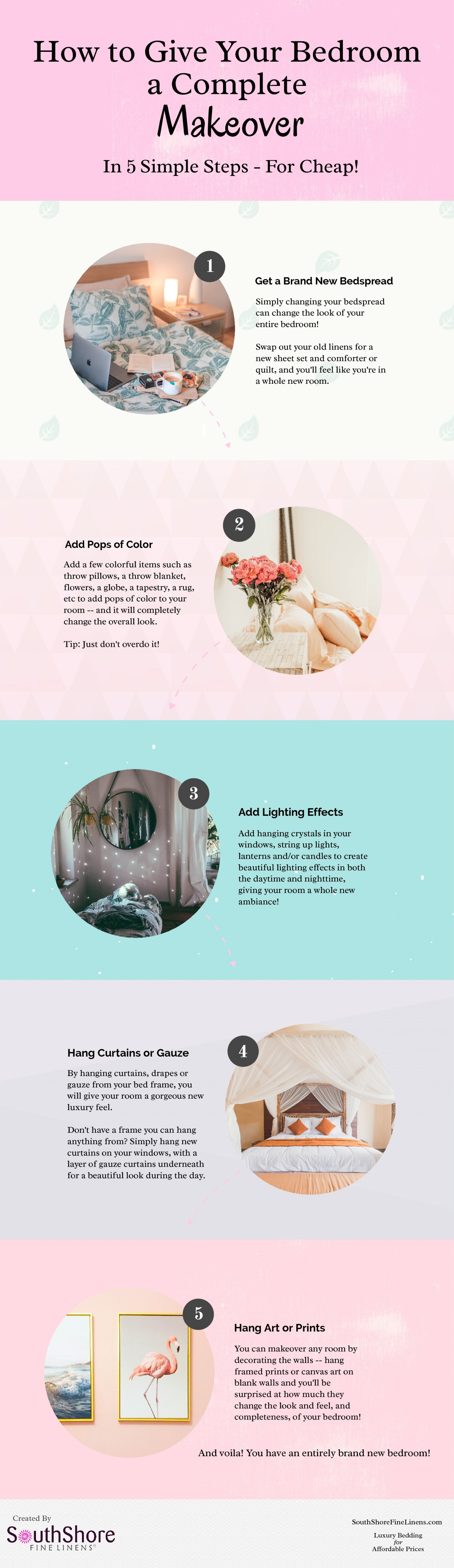 How to Give Your Bedroom a Complete Makeover Infographic