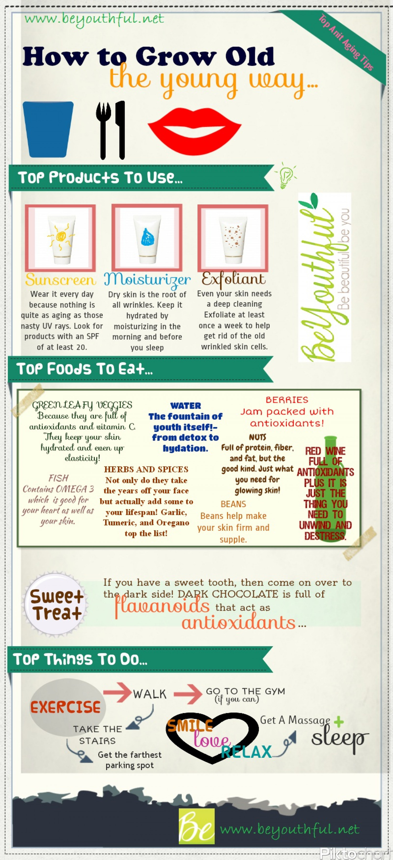 How To Grow Old The Young Way Infographic