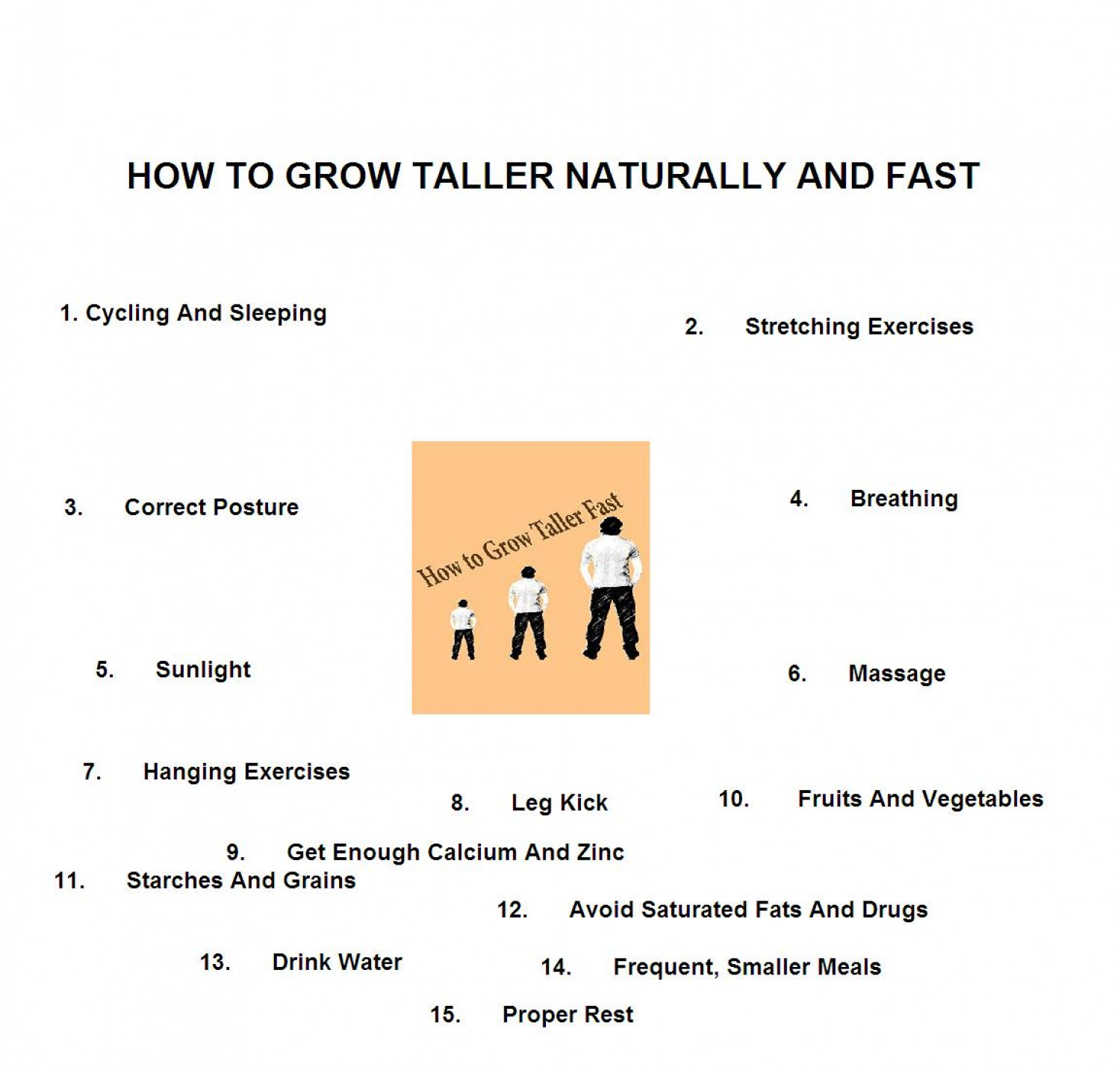 Best Way To Grow Taller Fast Naturally